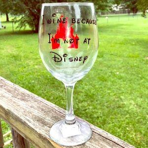 Disney Wine Glass